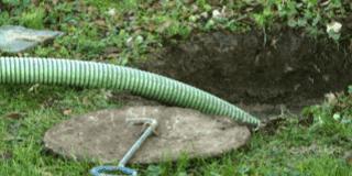 front yard cesspool installation